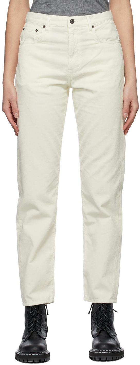 6397 灰白色 Easy-Fit 灯芯绒长裤