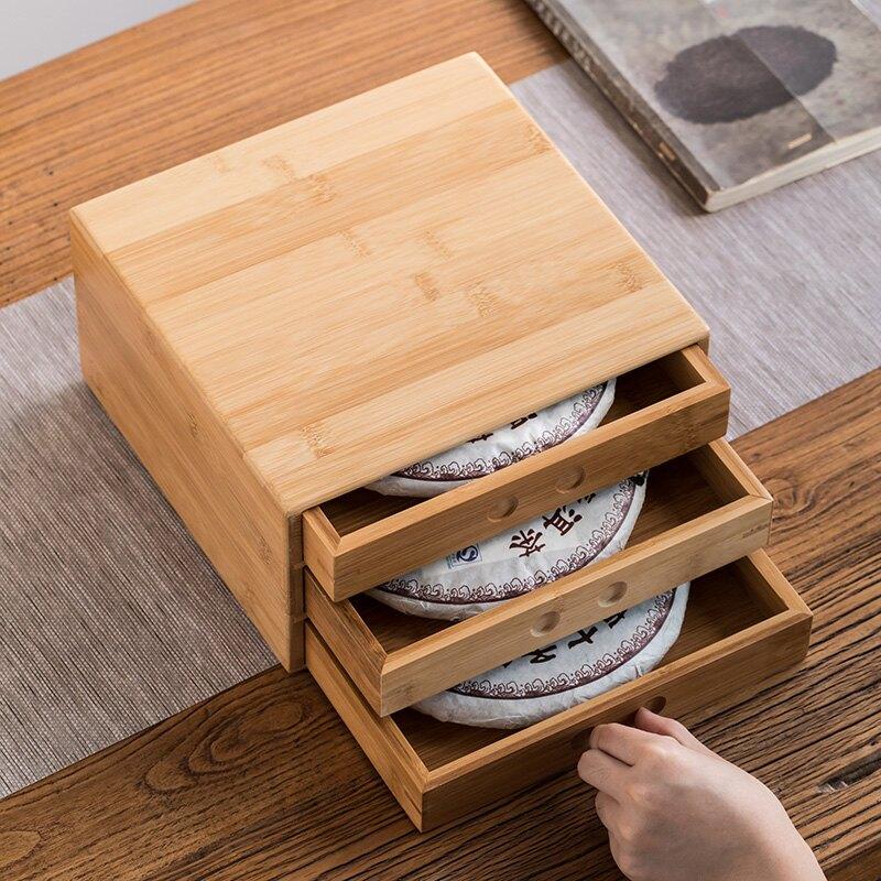 逸峰普洱茶盒茶餅架子收納盒撬茶盤開茶分茶盤茶針茶具配件竹制