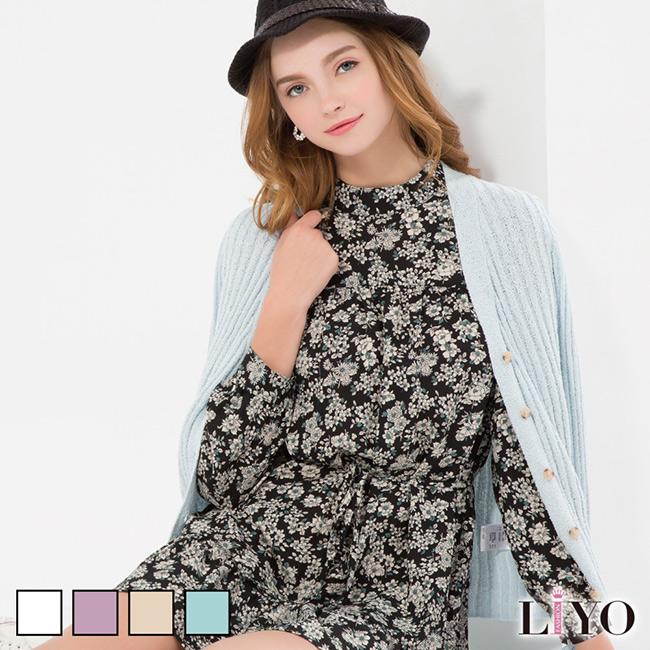 針織-LIYO理優-素色羅紋針織外套-E637001-此商品零碼不可退換貨