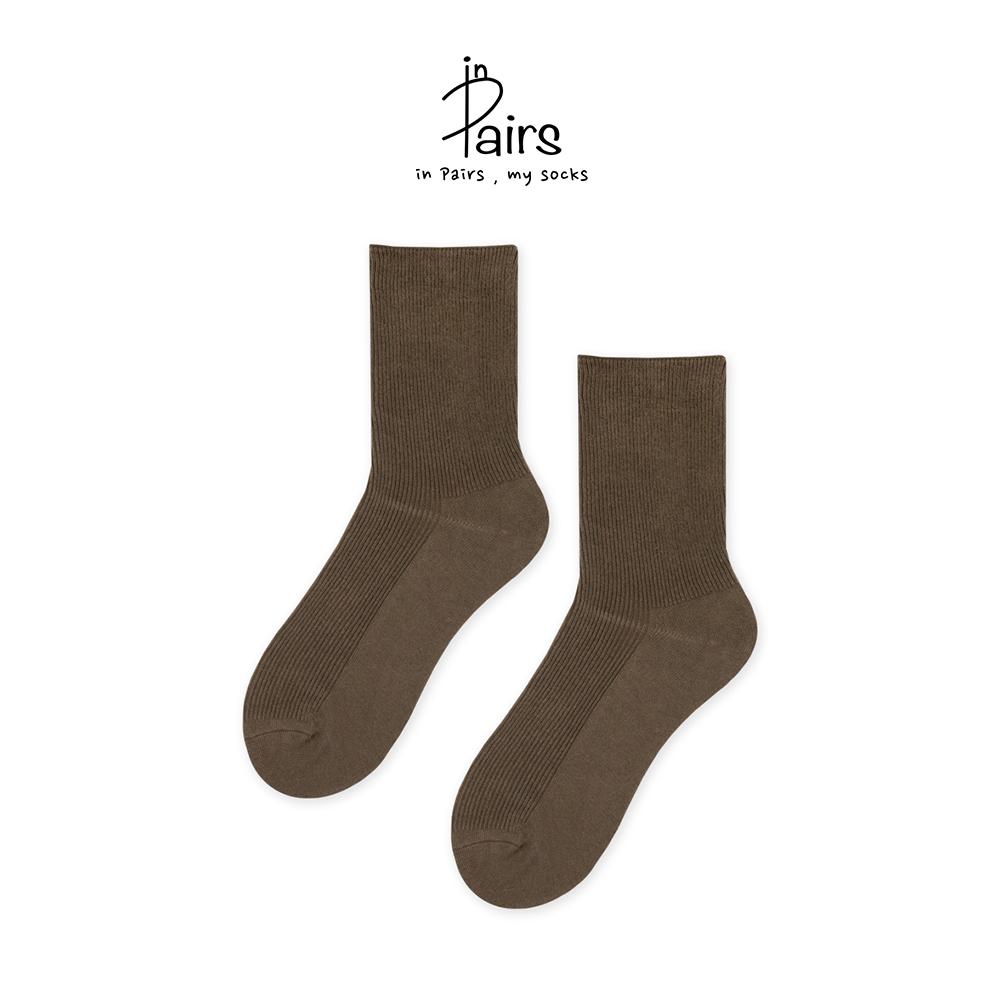 【in Pairs】素色中筒襪-煙燻妝F【康是美】