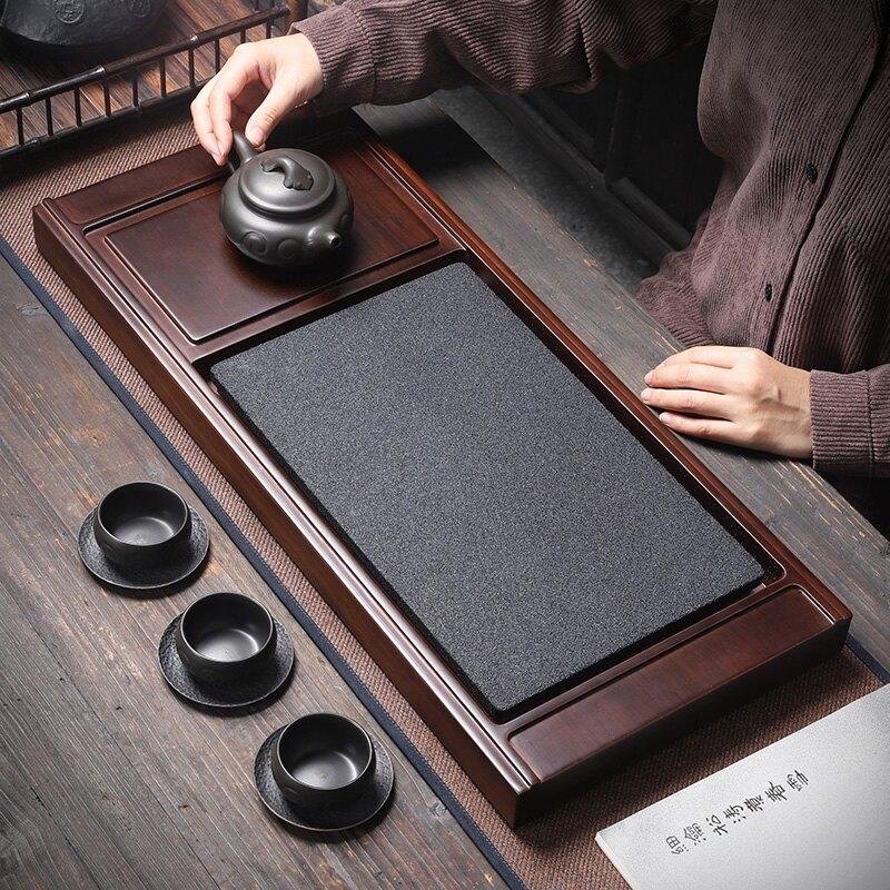 新品-瞬消茶盤茶臺茶海 家用茶托盤創意托盤無孔排水消水無痕茶盤