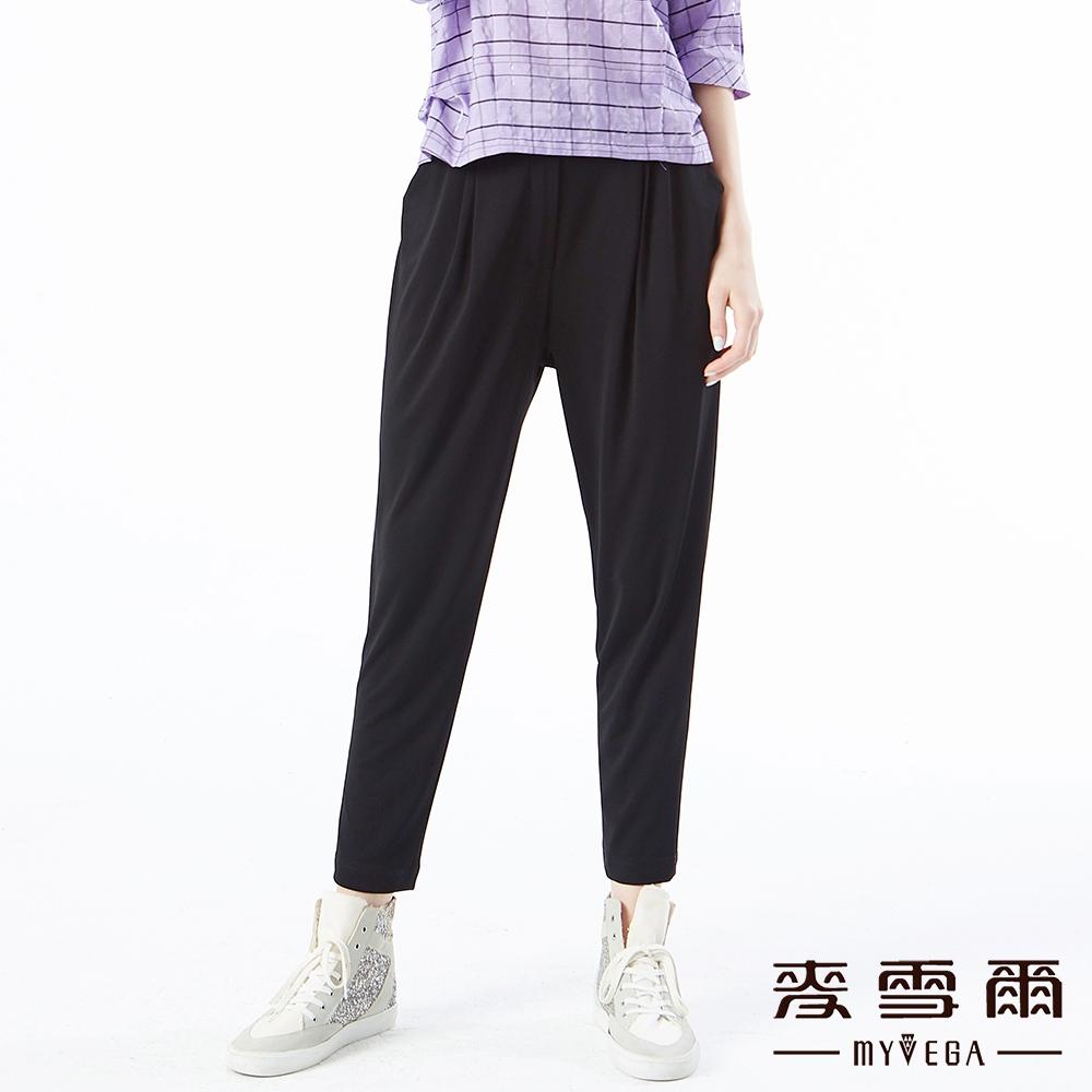 【麥雪爾】天絲棉立體剪裁針織彈性煙管褲