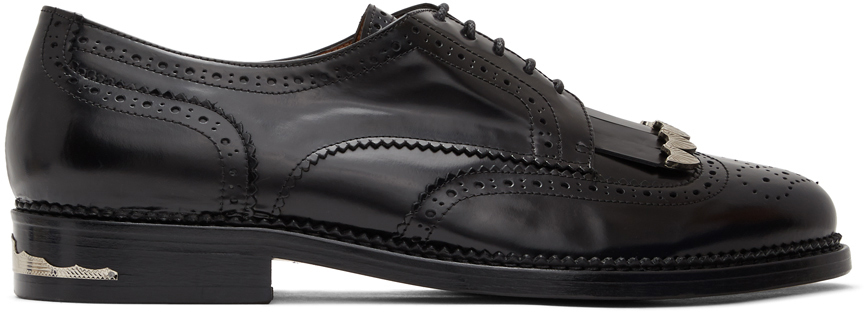 Toga Virilis 黑色抛光布洛克鞋