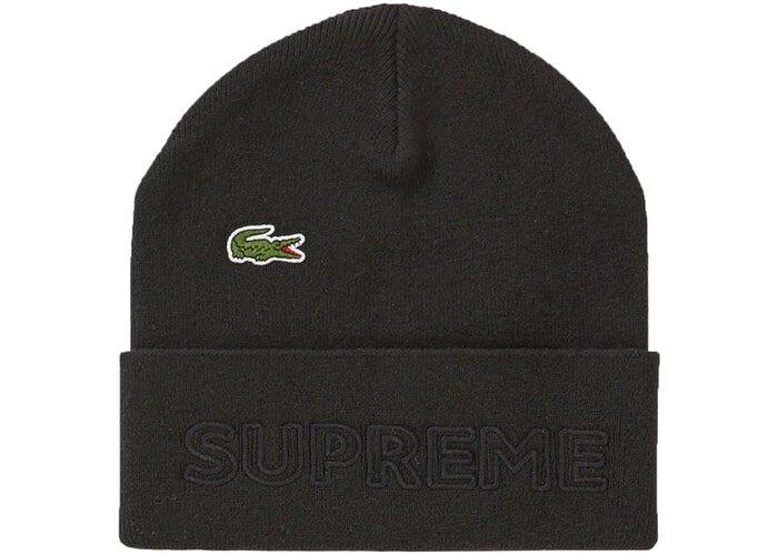 Supreme LACOSTE 毛帽 黑色