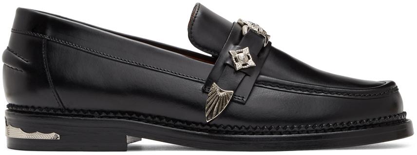 Toga Virilis 黑色皮革乐福鞋