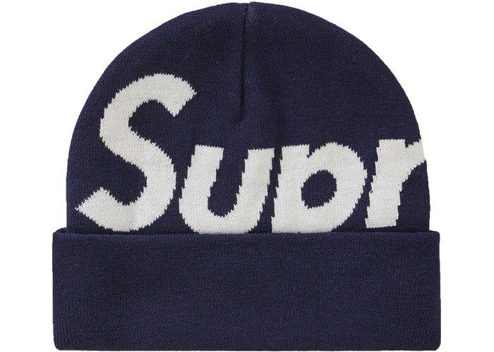 Supreme Big Logo 毛帽 (FW19) 海軍藍