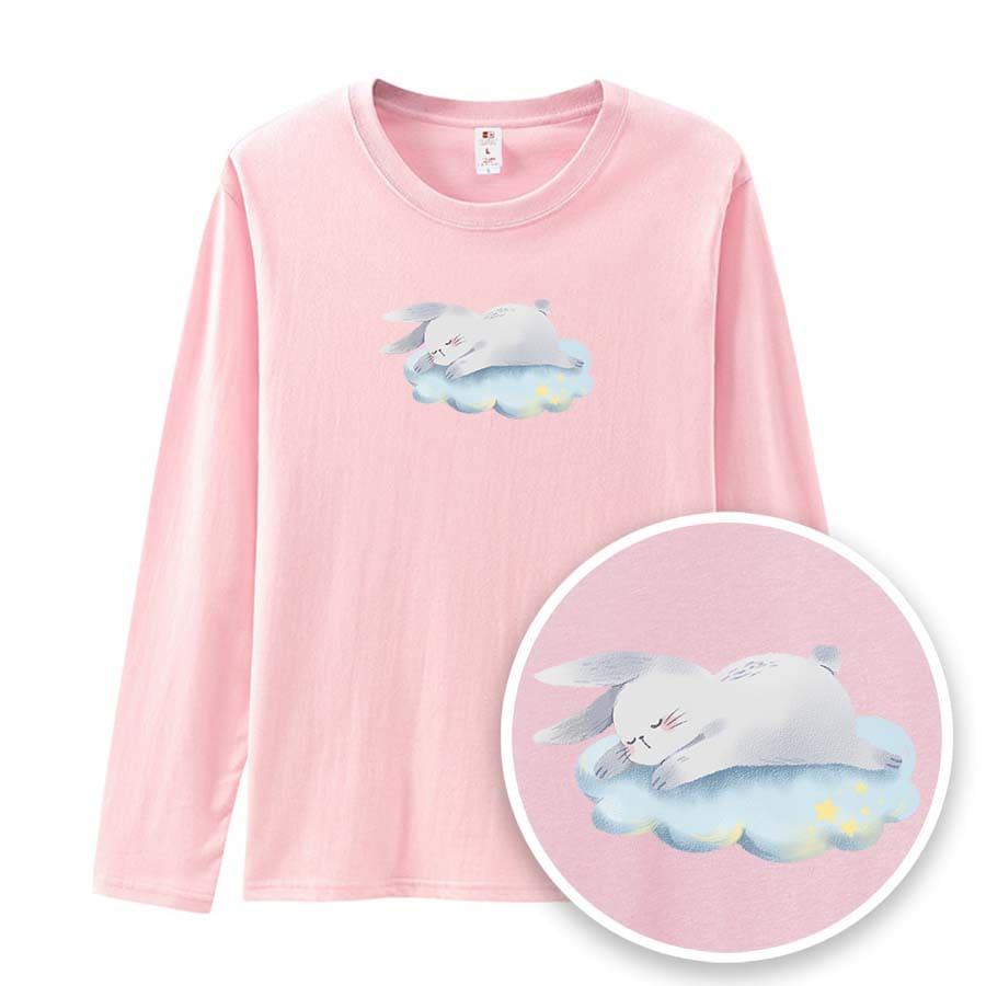 兔兔愛睡覺薄長袖-GTLS11