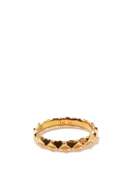Dominic Jones - Teeth 18kt Gold-plated Sterling-silver Ring - Mens - Gold
