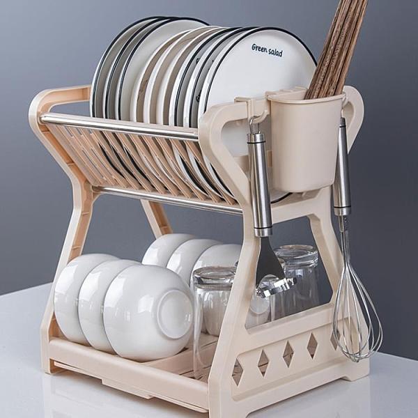 碗碟收納架瀝水碗架放碗筷碗盤碗柜收納盒用品家用大全廚房置物架【母親節禮物】