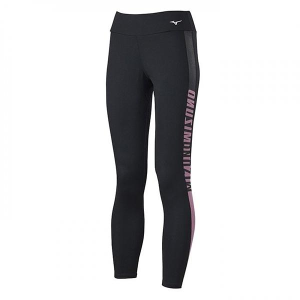 Mizuno Yoga [K2TB120896] 女 緊身褲 長褲 瑜珈 訓練 運動 伸縮彈性 抗紫外線 黑