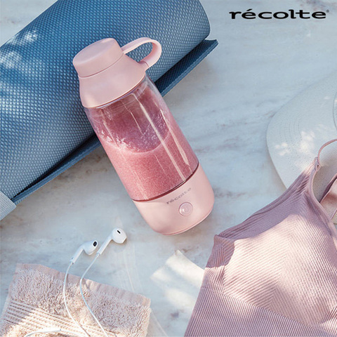 recolte日本麗克特 recolte Drink Mixer 隨行攪拌杯 櫻花粉