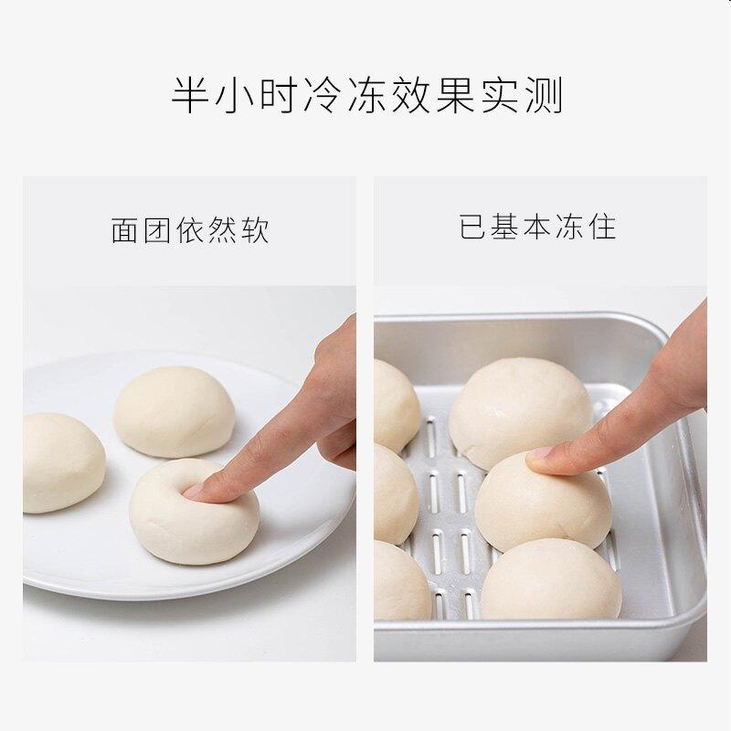 日本进口铝托盘烘焙面团速冻盘解冻盘镂空冷冻馄饨饺子盘厨房收纳