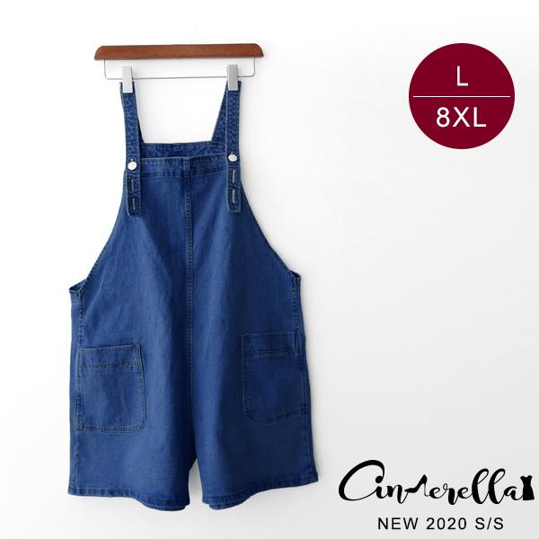 【JJ321】0424吊帶牛仔寬褲L-8XL(預購)