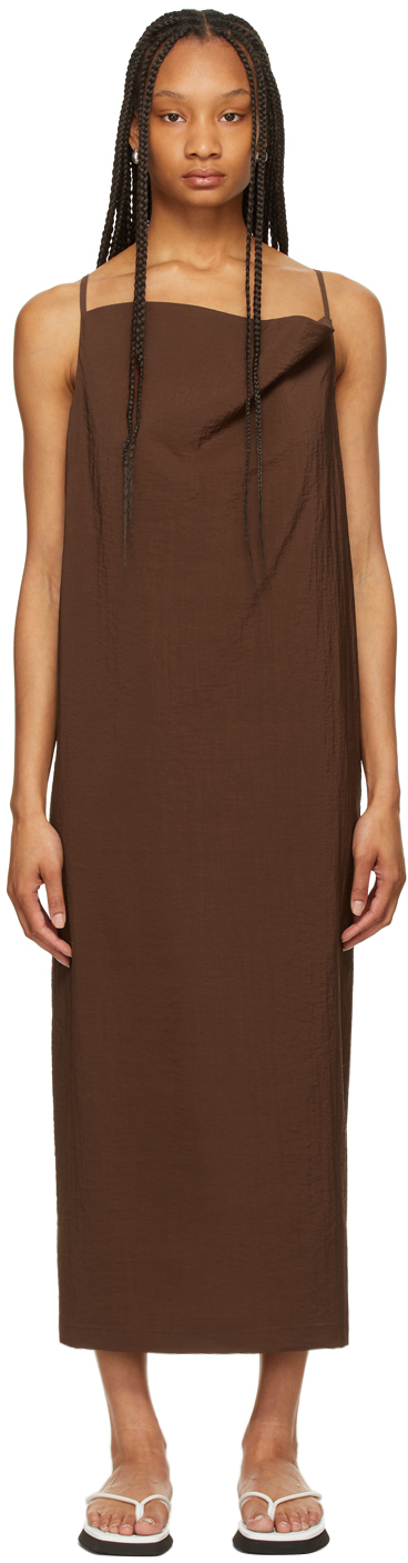 LE17SEPTEMBRE 棕色垂领连衣裙