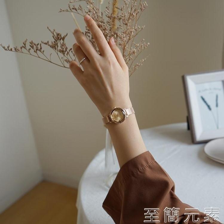 伴朵手錶女簡約ins風氣質小巧復古女式女士女生手錶女學生小錶盤 創時代3C 交換禮物 送禮
