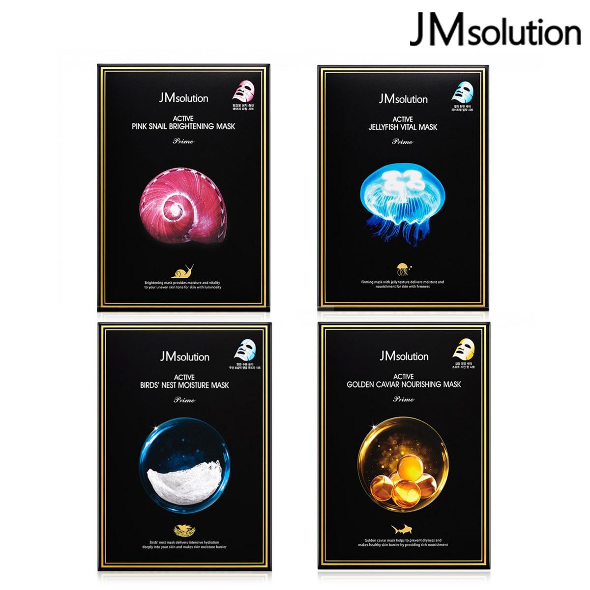 韓國 JMsolution 活力原萃系列面膜 1盒/10入 燕窩/蝸牛/水母/魚子醬 【SP嚴選家】