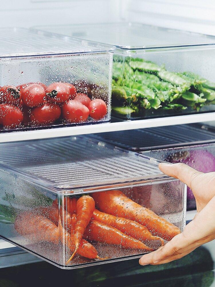 冰箱收纳盒食物冷冻保鲜盒鸡蛋盒冰块盒厨房储物盒水果盒大号