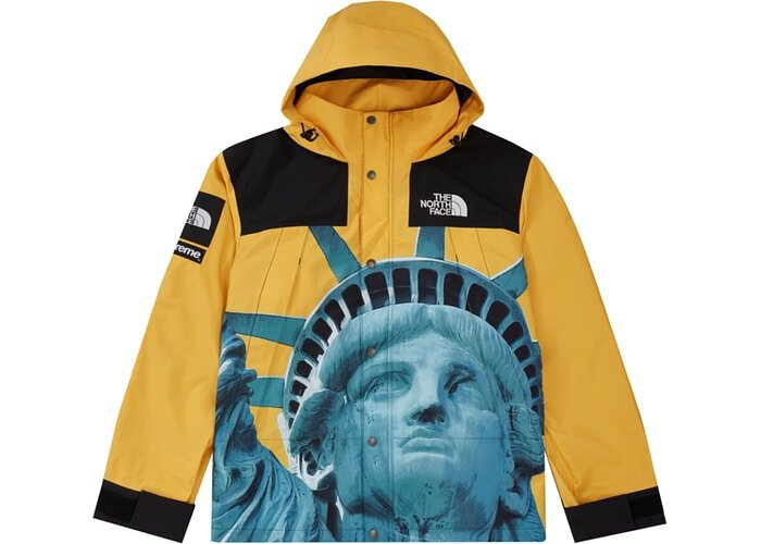 Supreme The North Face Statue of Liberty Mountain Jacket 衝鋒外套 黃