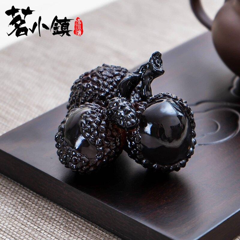 荔枝茶寵抖音同款茶寵物擺件變色可養個性創意精品茶具茶道配件