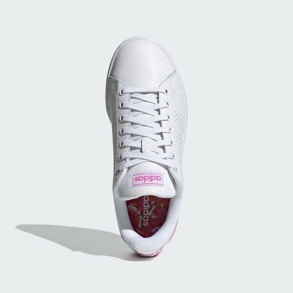 Adidas Neo Advantage [FZ2033] 女鞋 運動 休閒 網球鞋 花卉後跟 白 粉紅