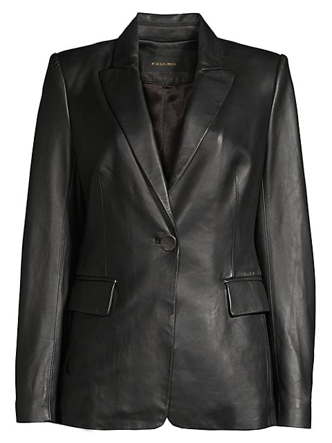 Avery Leather Blazer