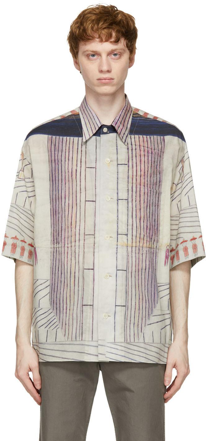 Lemaire 多色 Martín Ramírez 系列短袖衬衫