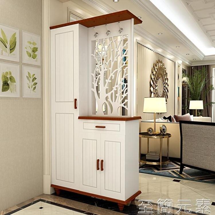 進門玄關櫃隔斷櫃門廳櫃現代簡約酒櫃雙面入戶鞋櫃客廳屏風裝飾櫃 創時代3C 交換禮物 送禮