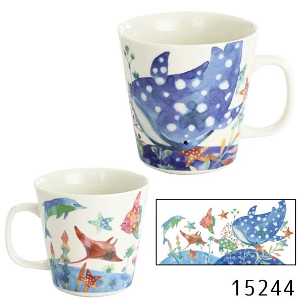 【日本製】FUN系列 陶瓷馬克杯 鯨鯊圖案 SD-6378 - 日本製