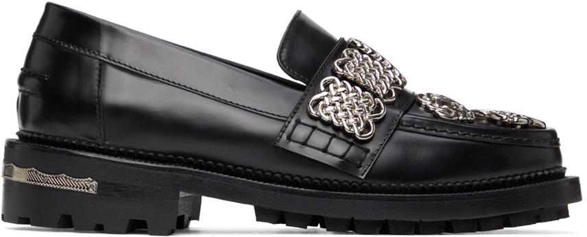 Toga Pulla 黑色 Embellished 乐福鞋