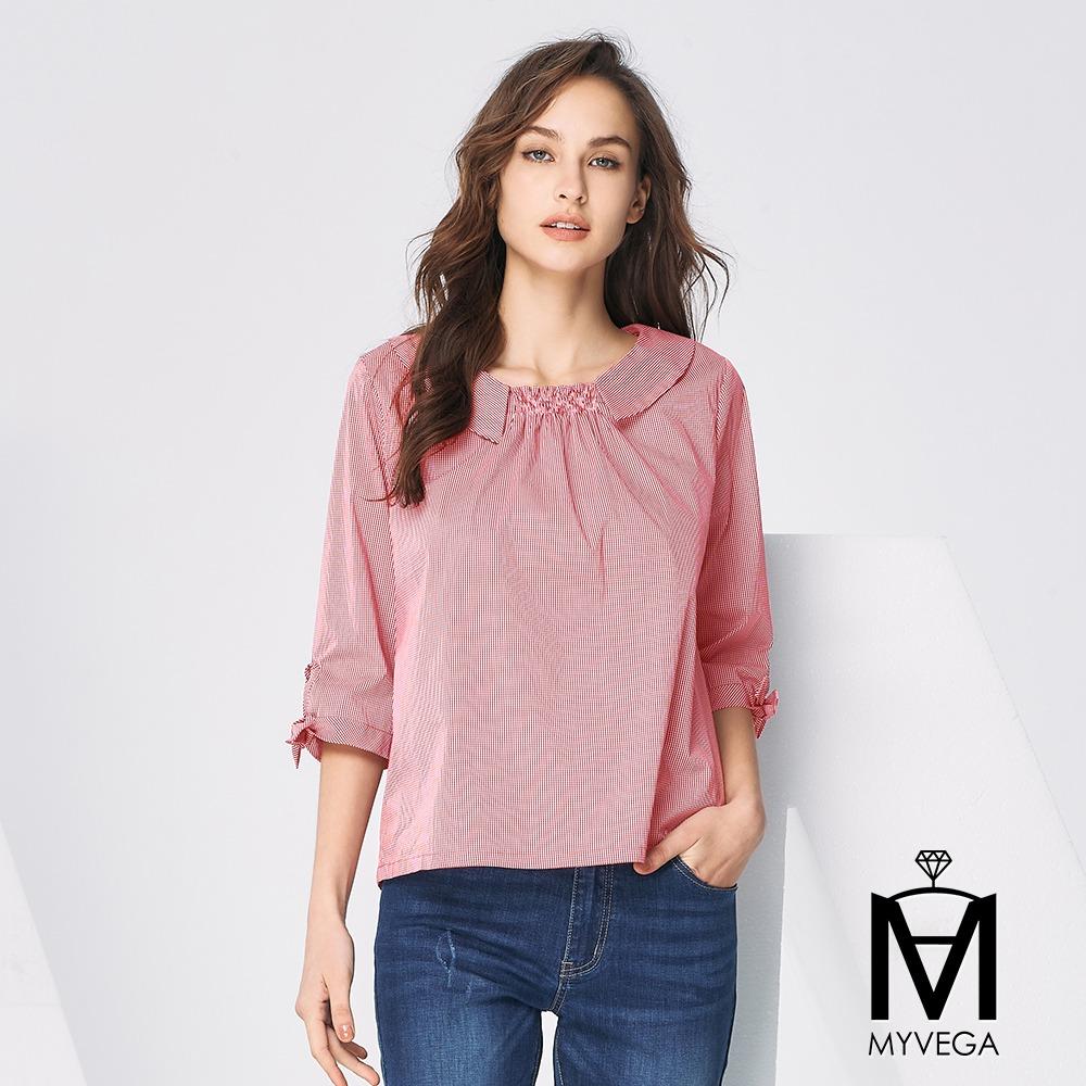 【麥雪爾】MA日系甜美純棉細上衣-紅