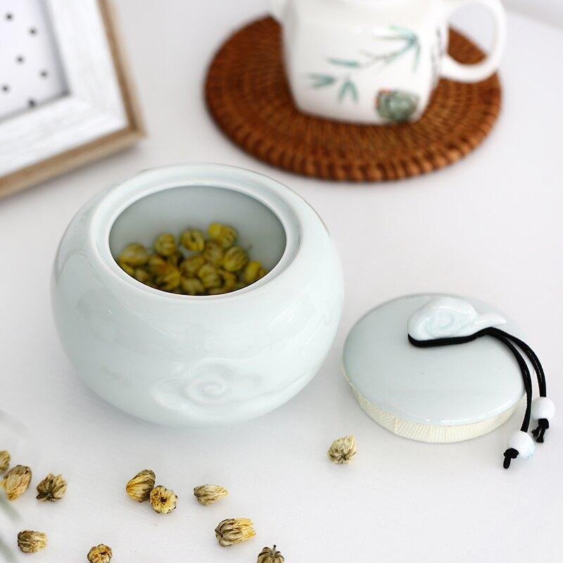 逸峰陶瓷茶葉罐密封罐家用存茶罐儲存罐瓷罐綠紅茶普洱儲茶罐
