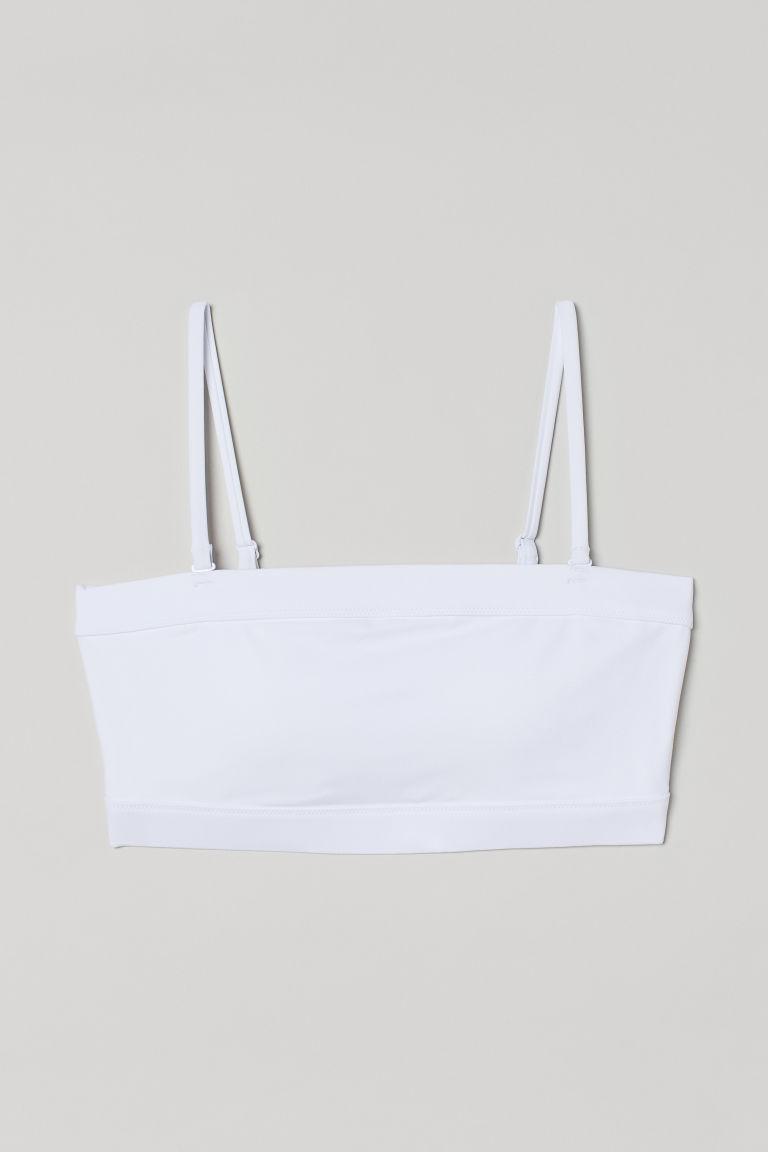 H & M - 運動比基尼上衣 - 白色