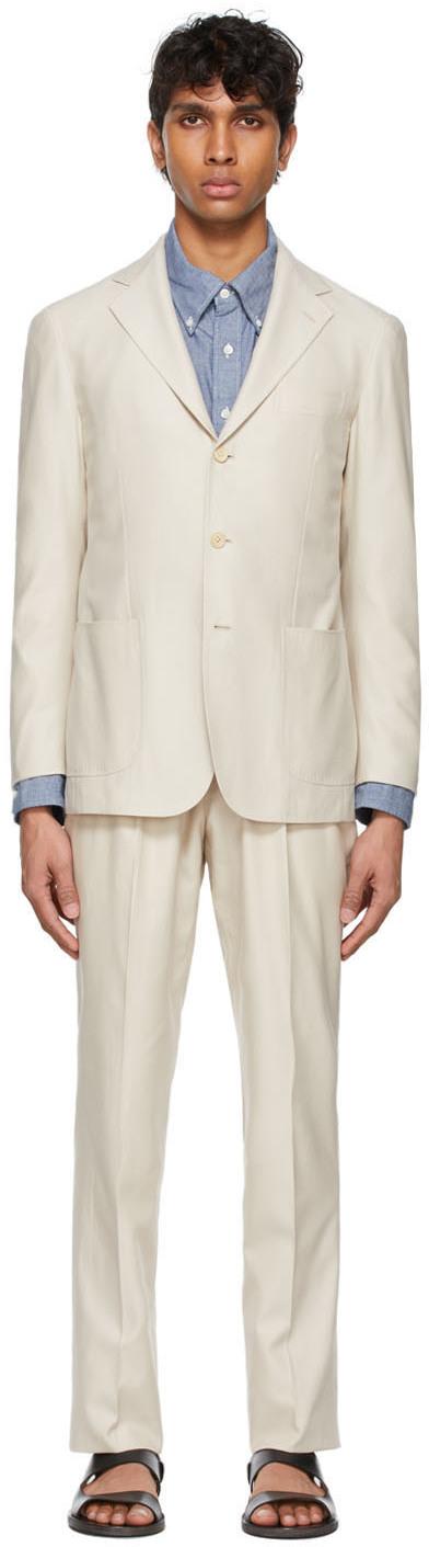 Ring Jacket 米色 High-Twist 西服套装