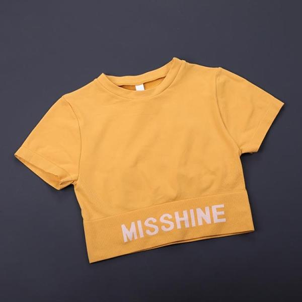 瑜伽服 運動上衣女性感露臍速干緊身瑜伽服短袖T恤夏季薄款健身衣短款 小衣裡
