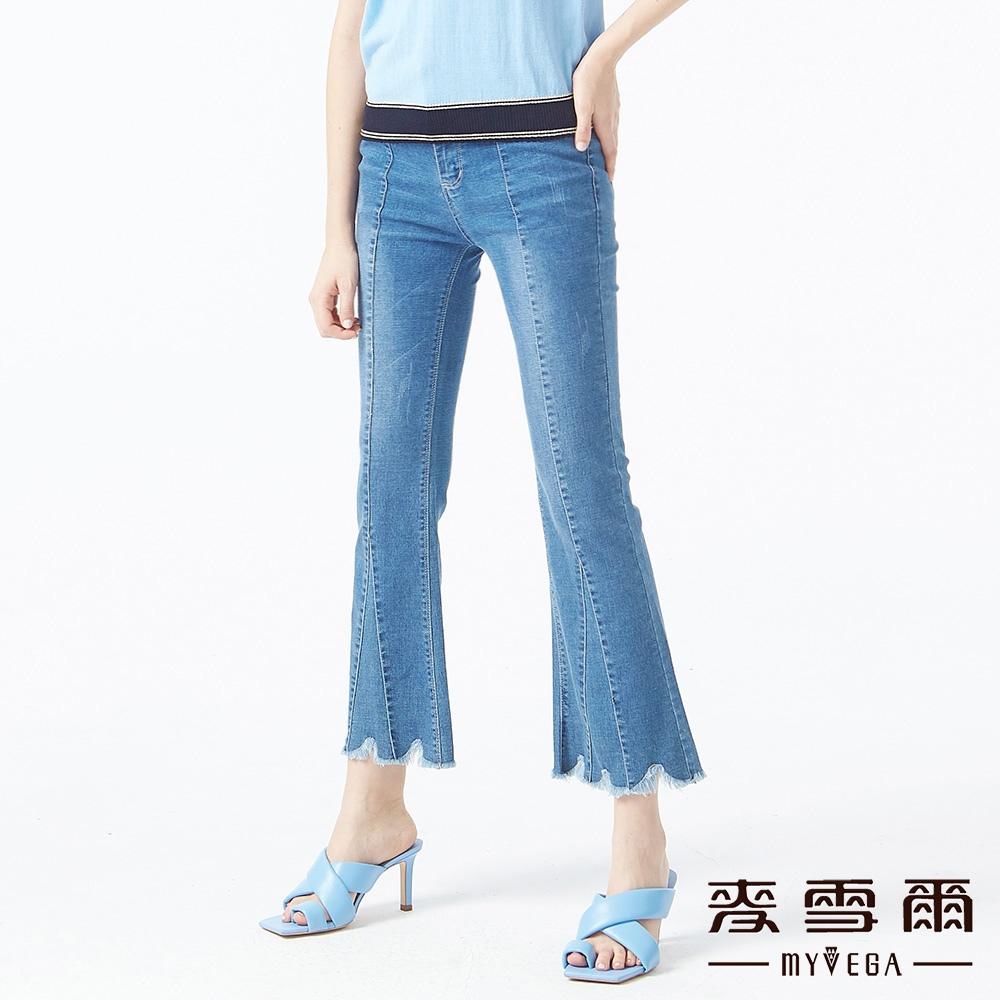 【麥雪爾】高含棉多片剪裁靴型九分褲單件9折//任選二件85折