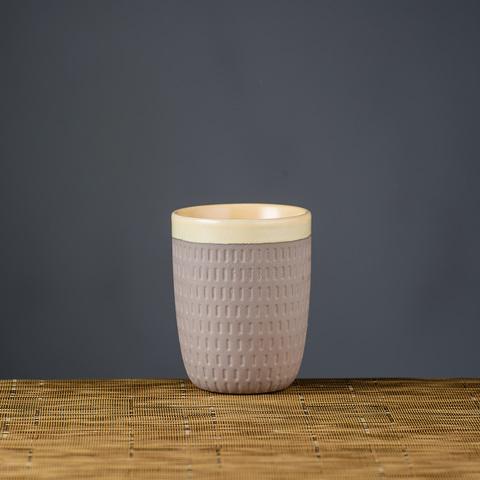 雨點白境瓷泥茶杯250CC