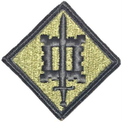 美軍公發 ARMY 陸軍 18th Engineer Brigade 第18工兵旅 臂章 綠色 全新