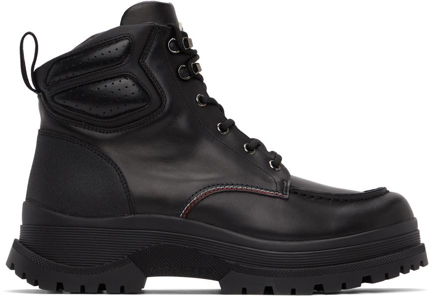 Moncler 黑色 Ulderic 皮革踝靴