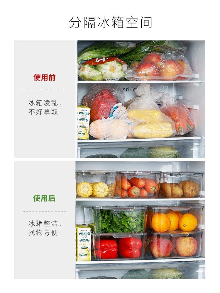 家用冰箱保鲜盒长方形食品储存盒透明整理盒水果蔬菜收纳盒