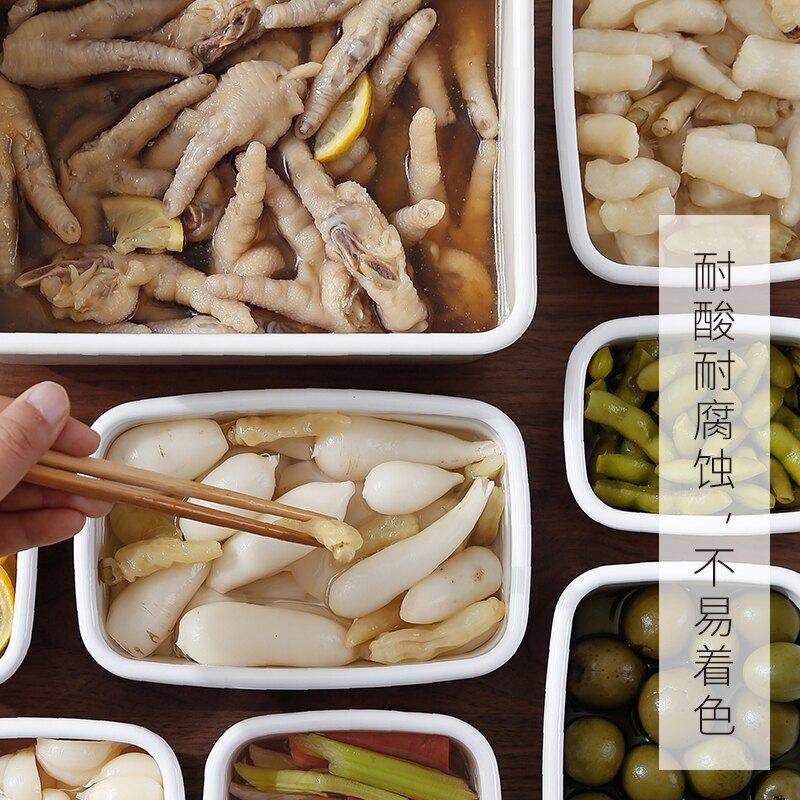 日本珐琅锅冰箱收纳盒厨房搪瓷锅泡菜坛子焗饭炖锅咸菜罐饭盒
