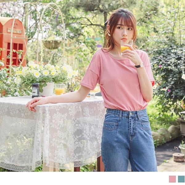 《AB13483-》台灣製造.鏤空美背抓皺親膚棉質上衣/T恤 OB嚴選
