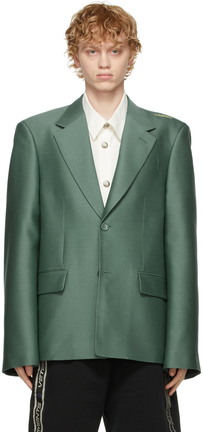 We11done 绿色 Basic 西装外套