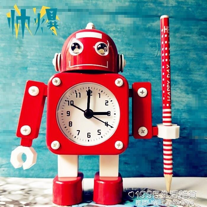變形金剛鬧鐘機器人鬧鐘創意學生鬧鐘可愛兒童卡通靜音金屬鬧鐘 創時代3C 交換禮物 送禮