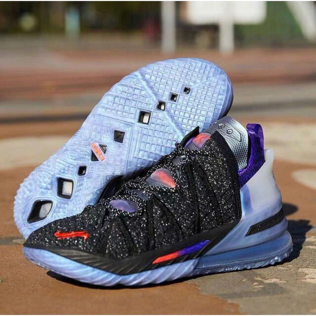 全新正品 Kylian Mbappe x Nike LeBron 18 黑藍紫 DB7644-001