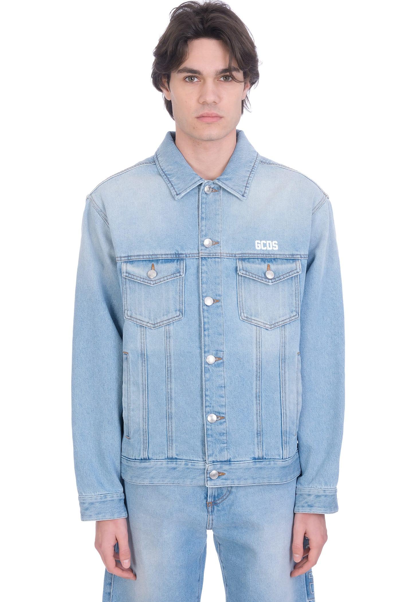 Jacket In Cyan Cotton