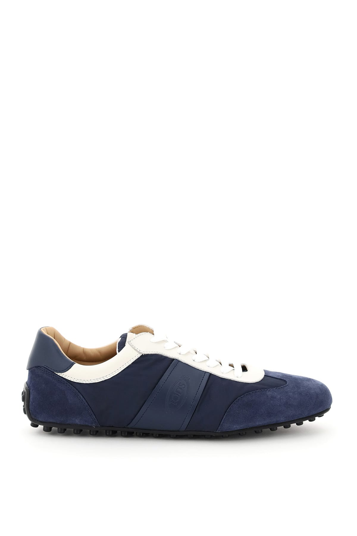 Tods Leather And Fabric Sneakers