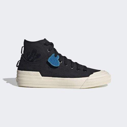 Adidas Nizza Hi Dl [GZ2663] 男鞋 運動 休閒 帆布 復古 愛迪達 愛心 黑 藍