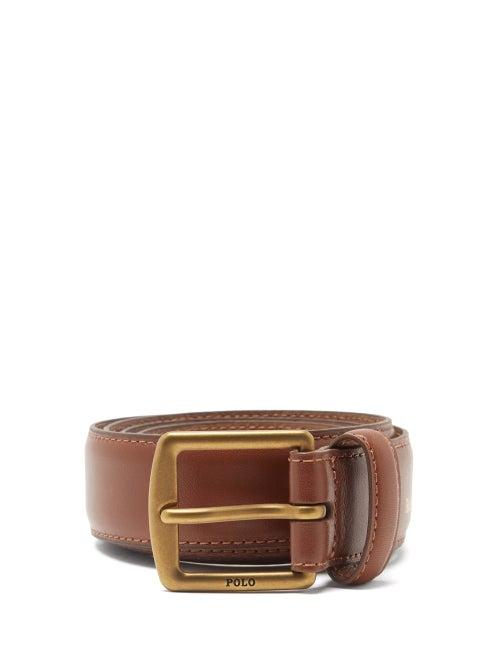 Polo Ralph Lauren - Foiled-logo Leather Belt - Mens - Brown