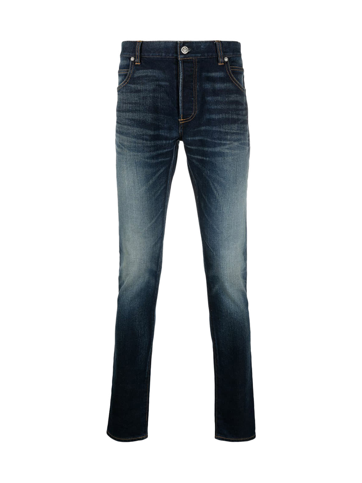Balmain B Embroidered Skinny Jeans-raw Vintage