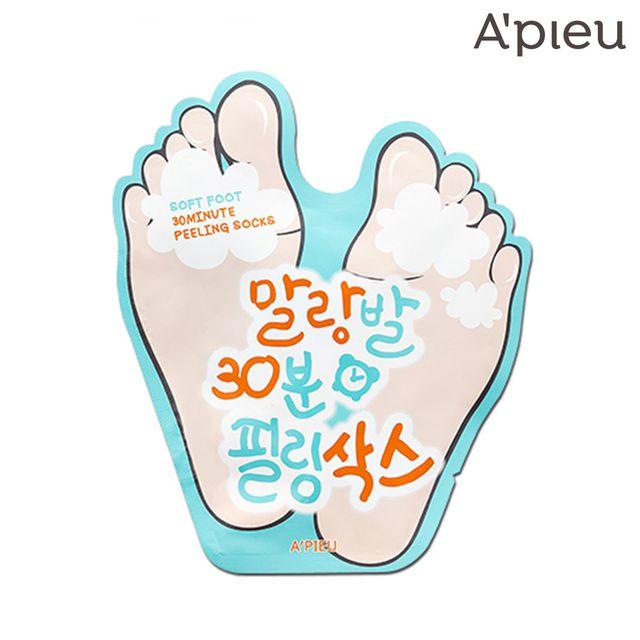 APIEU 柔嫩雙足 30分鐘去角質足膜 韓國熱賣 水嫩腳ㄚ 腳跟龜裂 【SP嚴選家】